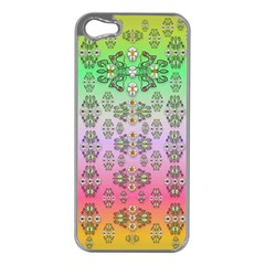 Summer Bloom In Festive Mood Apple iPhone 5 Case (Silver)