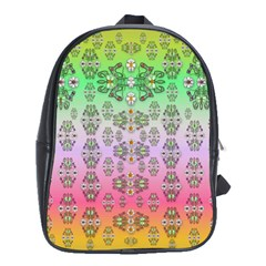 Summer Bloom In Festive Mood School Bags (XL)