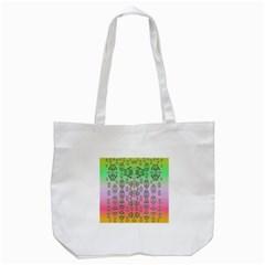 Summer Bloom In Festive Mood Tote Bag (white)