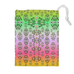 Summer Bloom In Festive Mood Drawstring Pouches (extra Large)