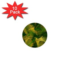 Green And Gold Abstract 1  Mini Buttons (10 pack)