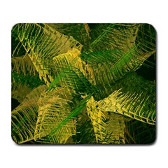 Green And Gold Abstract Large Mousepads