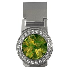 Green And Gold Abstract Money Clips (CZ)