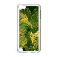 Green And Gold Abstract Apple iPod Touch 5 Case (White)