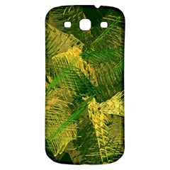 Green And Gold Abstract Samsung Galaxy S3 S III Classic Hardshell Back Case