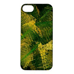 Green And Gold Abstract Apple iPhone 5S/ SE Hardshell Case