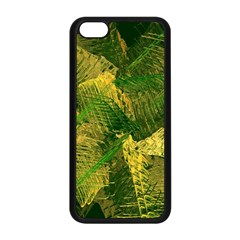 Green And Gold Abstract Apple iPhone 5C Seamless Case (Black)