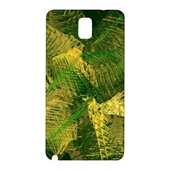 Green And Gold Abstract Samsung Galaxy Note 3 N9005 Hardshell Back Case