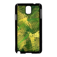 Green And Gold Abstract Samsung Galaxy Note 3 Neo Hardshell Case (Black)