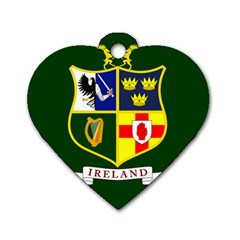Flag of Ireland National Field Hockey Team Dog Tag Heart (Two Sides)