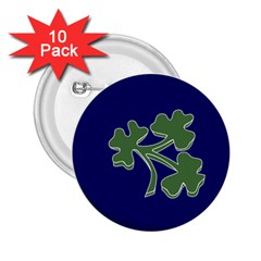Flag of Ireland Cricket Team 2.25  Buttons (10 pack)