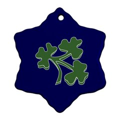 Flag of Ireland Cricket Team Snowflake Ornament (Two Sides)
