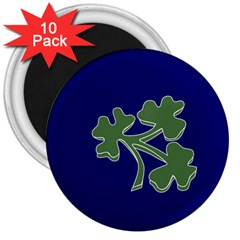 Flag of Ireland Cricket Team  3  Magnets (10 pack)