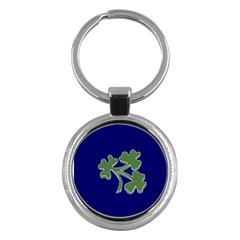 Flag of Ireland Cricket Team  Key Chains (Round)
