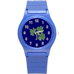 Flag of Ireland Cricket Team  Round Plastic Sport Watch (S)