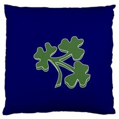 Flag of Ireland Cricket Team  Large Flano Cushion Case (Two Sides)