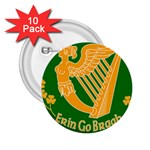 Erin Go Bragh Banner 2.25  Buttons (10 pack)  Front