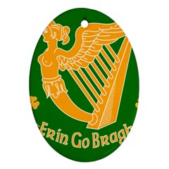 Erin Go Bragh Banner Oval Ornament (Two Sides)