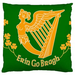 Erin Go Bragh Banner Large Flano Cushion Case (Two Sides)
