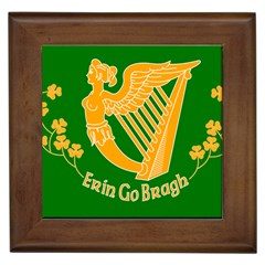 Erin Go Bragh Banner Framed Tiles