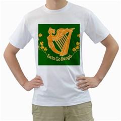 Erin Go Bragh Banner Men s T-Shirt (White) (Two Sided)