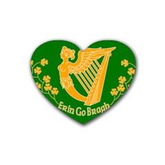 Erin Go Bragh Banner Heart Coaster (4 pack)