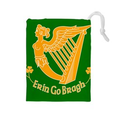 Erin Go Bragh Banner Drawstring Pouches (Large)