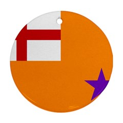 Flag of the Orange Order Round Ornament (Two Sides)