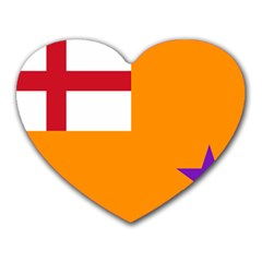 Flag of the Orange Order Heart Mousepads