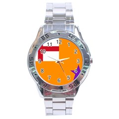 Flag of the Orange Order Stainless Steel Analogue Watch