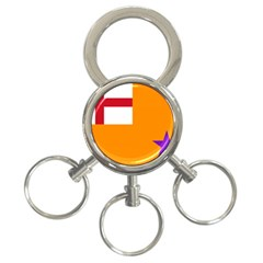 Flag of the Orange Order 3-Ring Key Chains