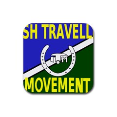 Flag of the Irish Traveller Movement Rubber Square Coaster (4 pack)