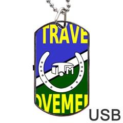 Flag of the Irish Traveller Movement Dog Tag USB Flash (One Side)