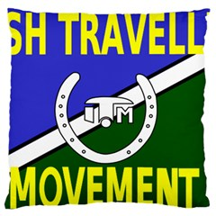 Flag of the Irish Traveller Movement Large Flano Cushion Case (Two Sides)