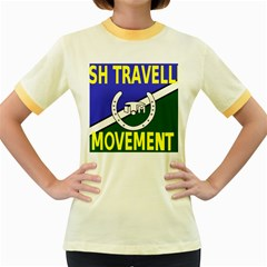 Flag of the Irish Traveller Movement Women s Fitted Ringer T-Shirts