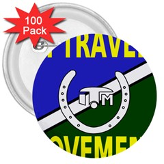 Flag of the Irish Traveller Movement 3  Buttons (100 pack)