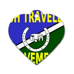 Flag of the Irish Traveller Movement Dog Tag Heart (Two Sides)