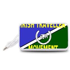 Flag of the Irish Traveller Movement Portable Speaker (White)
