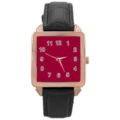 Flag of the Apprentice Boys of Derry Rose Gold Leather Watch