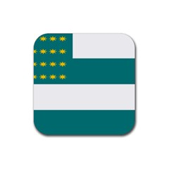 Flag of Fenian Brotherhood Rubber Coaster (Square)
