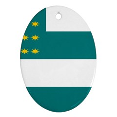 Flag of Fenian Brotherhood Oval Ornament (Two Sides)