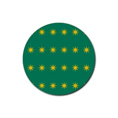 32 Stars Fenian Flag Rubber Round Coaster (4 Pack)