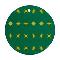 32 Stars Fenian Flag Round Ornament (Two Sides)