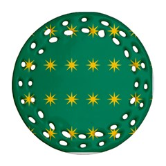 32 Stars Fenian Flag Round Filigree Ornament (Two Sides)