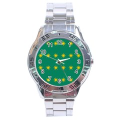 32 Stars Fenian Flag Stainless Steel Analogue Watch