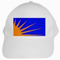 Sunburst Flag White Cap