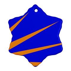 Sunburst Flag Ornament (Snowflake)