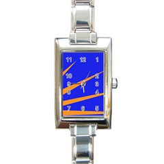 Sunburst Flag Rectangle Italian Charm Watch
