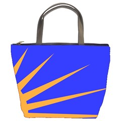 Sunburst Flag Bucket Bags