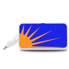 Sunburst Flag Portable Speaker (White)